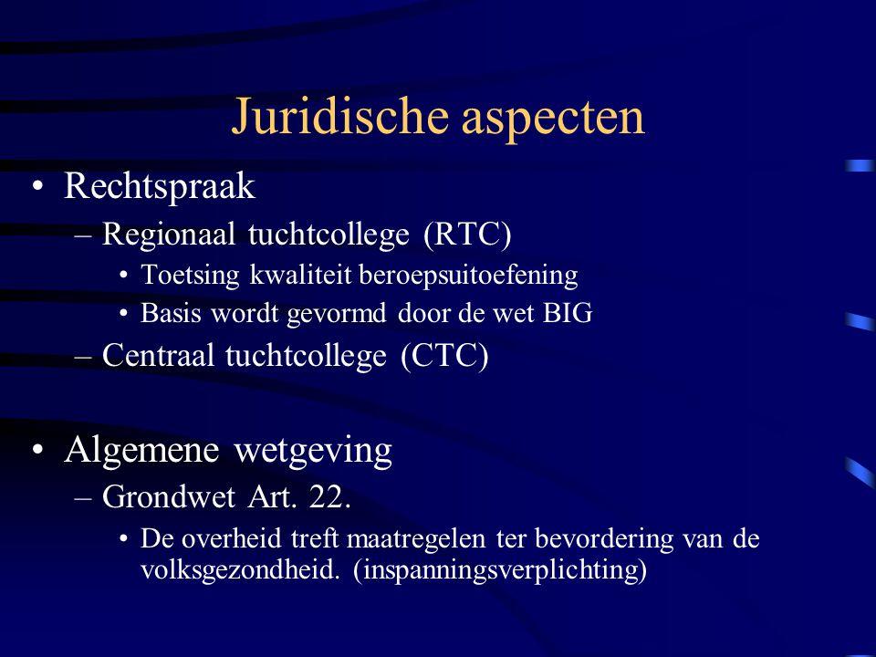 Juridische aspecten Algemene wetgeving –Art.10 (persoonlijke levenssfeer) –Art.