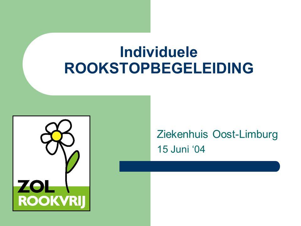 Individuele ROOKSTOPBEGELEIDING Ziekenhuis Oost-Limburg 15 Juni '04
