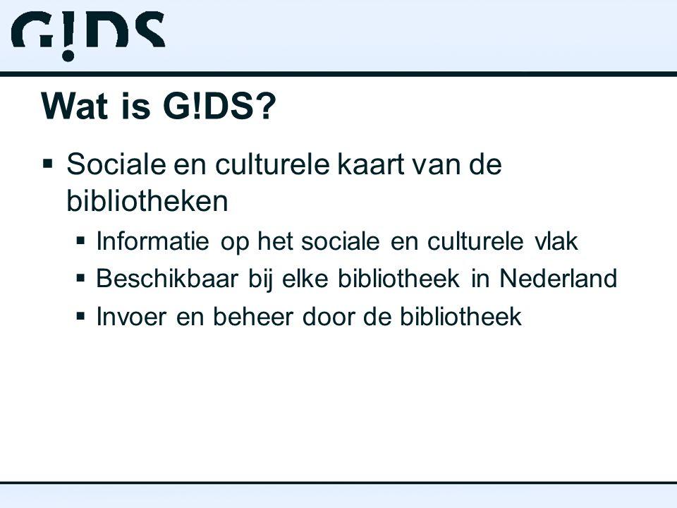 Sociale en Culturele kaart  Presentatie op alle mogelijke websites  Hergebruik van informatie!