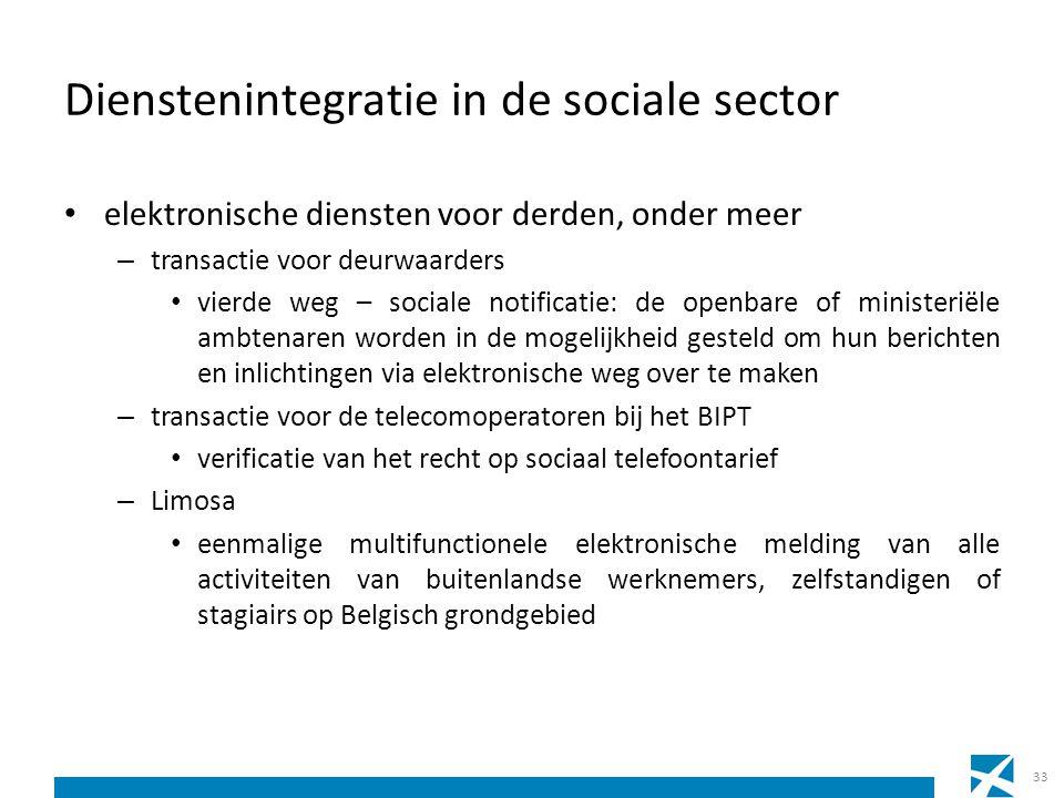 Dienstenintegratie in de sociale sector elektronische diensten voor derden, onder meer – transactie voor deurwaarders vierde weg – sociale notificatie