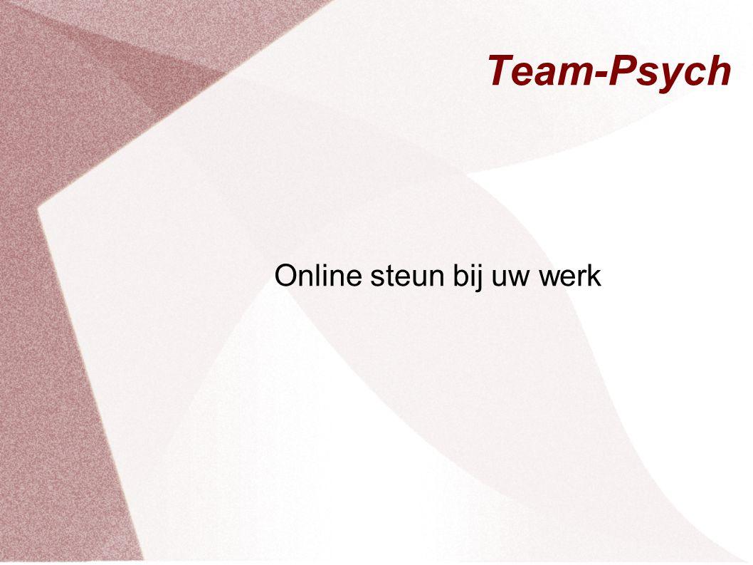 Team-Psych Online steun bij uw werk