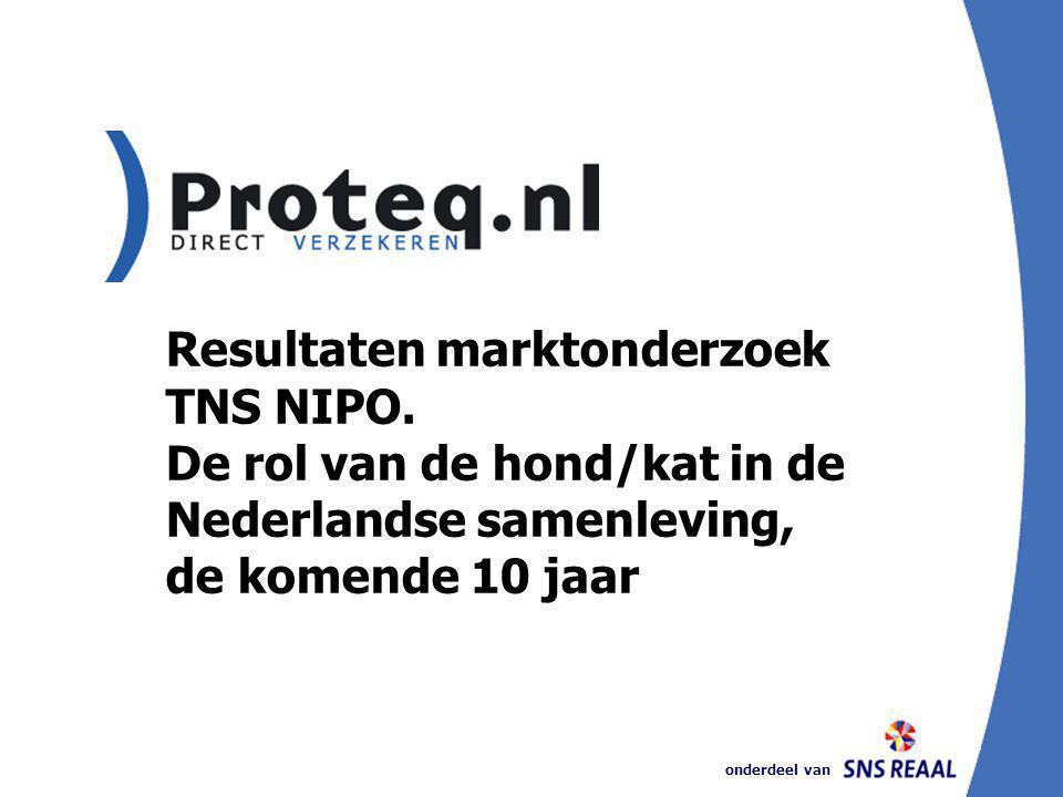onderdeel van Resultaten marktonderzoek TNS NIPO. De rol van de hond/kat in de Nederlandse samenleving, de komende 10 jaar