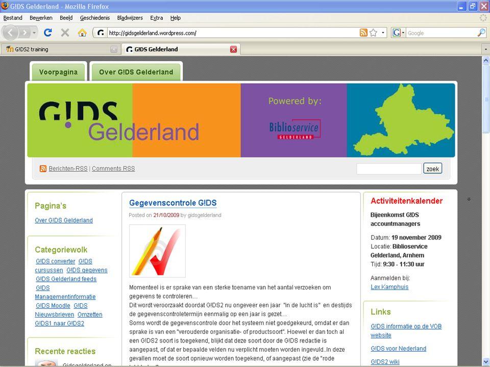 Updates (landelijk) nieuws:  Landelijke rapporten G!DS evaluatie (Moodle)  Tarieven landelijke afdrachten vanaf 2010 Bijeenkomst G!DS accountmanagers Arnhem, 19 november 2009