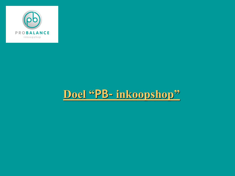 Doel PB- inkoopshop