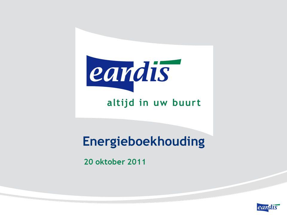 Energieboekhouding 20 oktober 2011