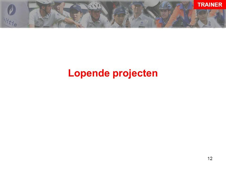 12 Lopende projecten TRAINER