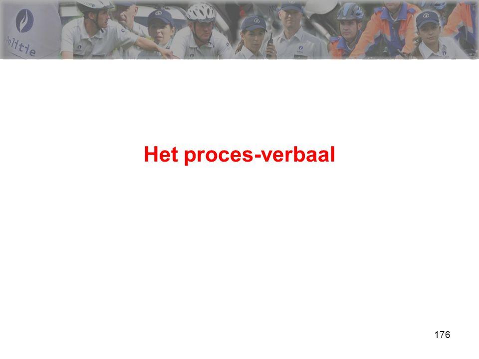 176 Het proces-verbaal