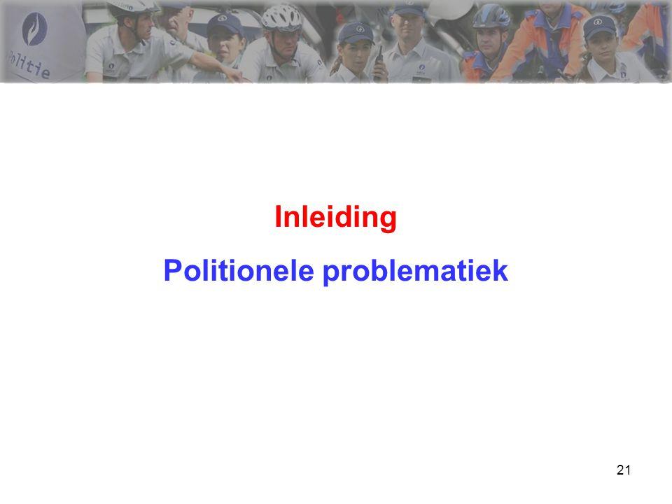 21 Inleiding Politionele problematiek