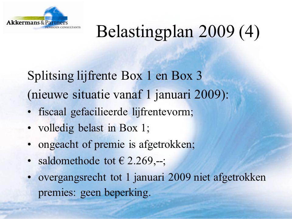 Voorbeeld saldo methode: Lijfrenteverzekering 01-01-2009/01-01-2023.