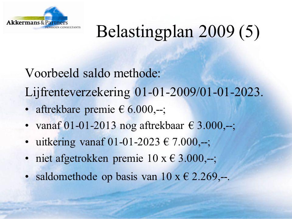 Lijfrenteverzekering 01-01-2009/01-01-2023 (vervolg).
