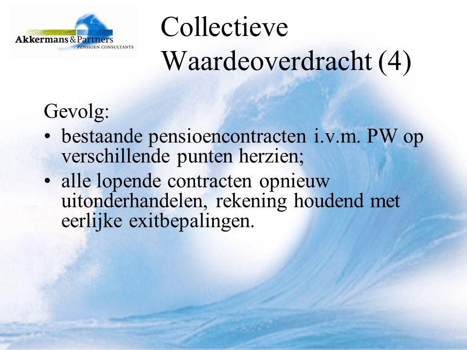 Collectieve Waardeoverdracht (5) instemming individuele deelnemer vereist; instemming OR.