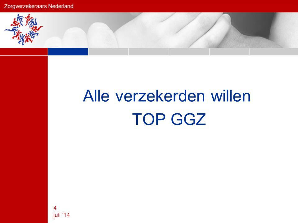 Alle verzekerden willen TOP GGZ 4 juli '14
