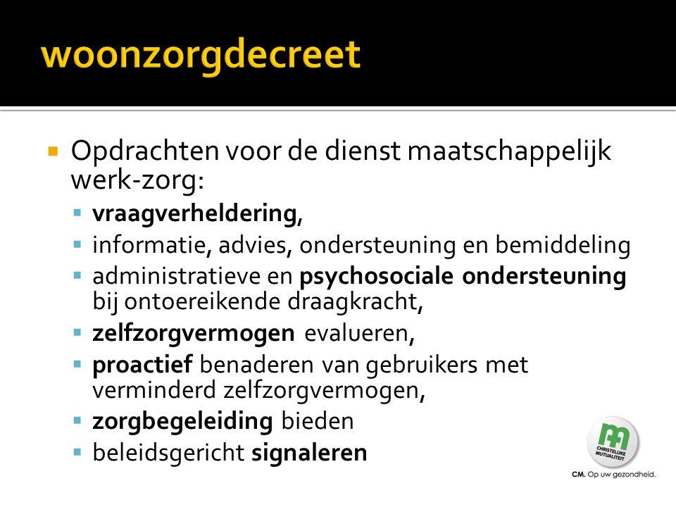  We gaan na of er recht is op een tussenkomst van de Vlaamse Zorgverzekering  We maken een score op aan de hand van een vragenlijst  Het moet duidelijk gaan over zwaarzorgbehoevenden