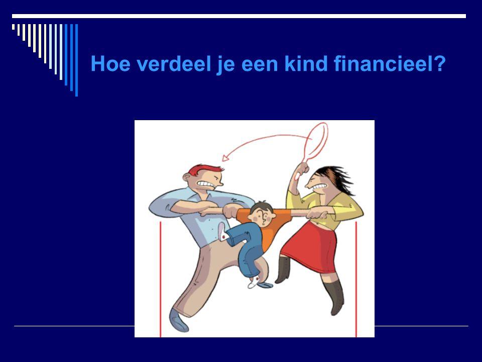Hoe verdeel je een kind financieel?