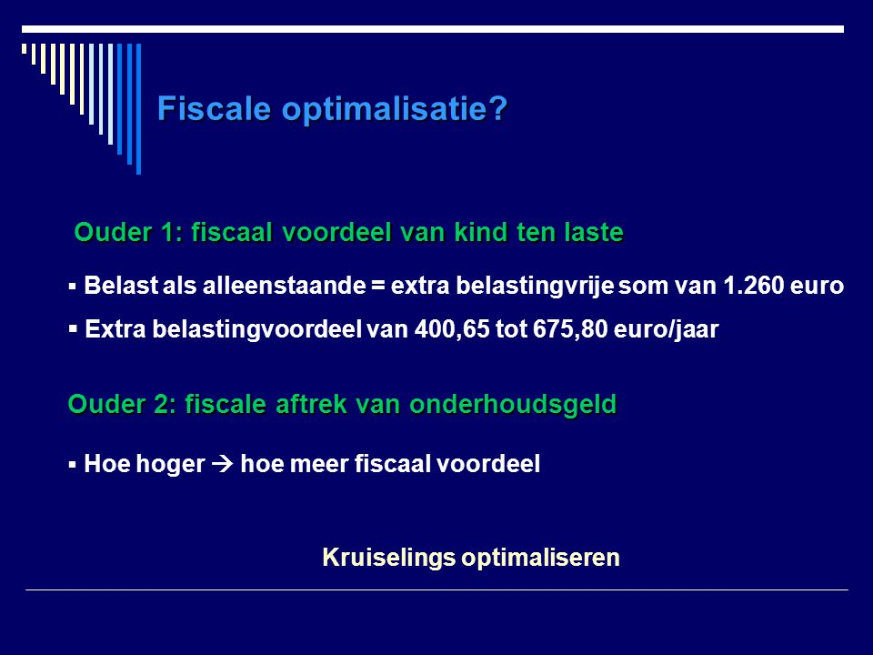 Fiscale optimalisatie.