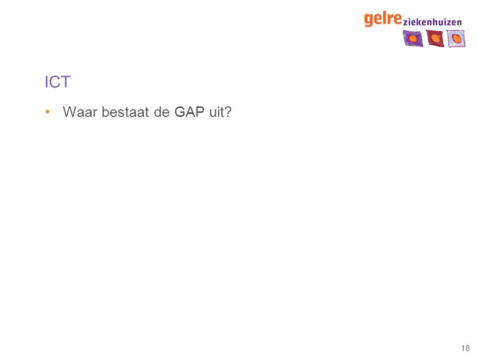 18 ICT Waar bestaat de GAP uit?