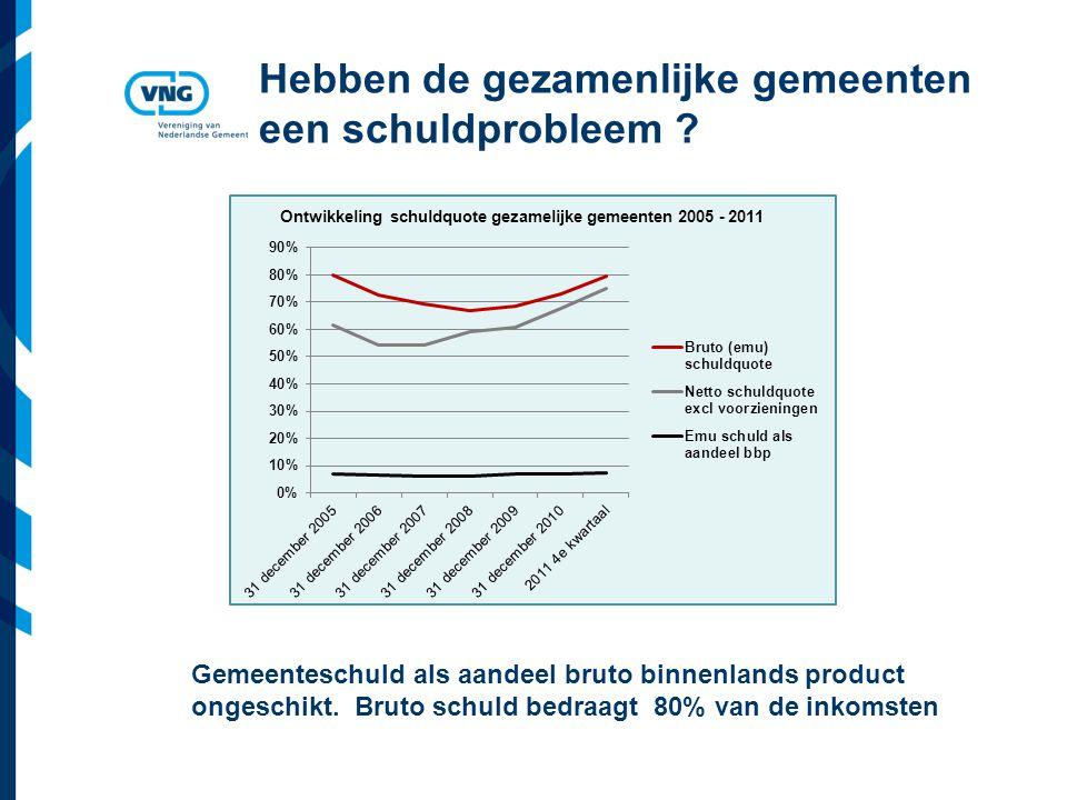 Vereniging van Nederlandse Gemeenten Hebben de gezamenlijke gemeenten een schuldprobleem .