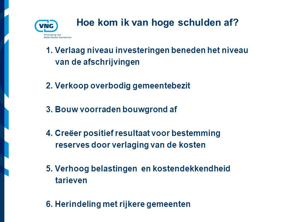 Vereniging van Nederlandse Gemeenten Hoe kom ik van hoge schulden af.