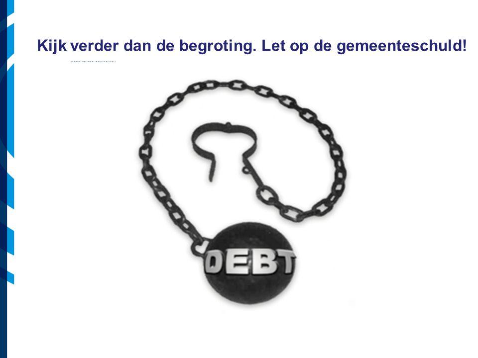 Vereniging van Nederlandse Gemeenten Kijk verder dan de begroting. Let op de gemeenteschuld!