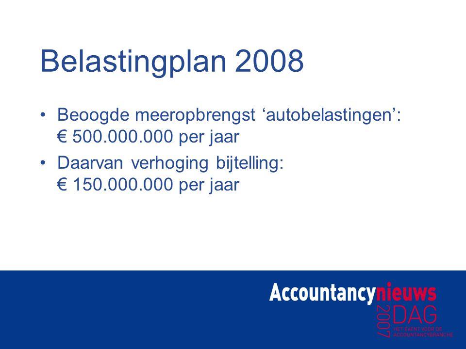 Bijtelling Aangenomen moties Tweede Kamer (november 2006): Afschaffen bijtelling grijs kenteken Stimuleren schonere auto's van leaserijders door fiscale prikkels