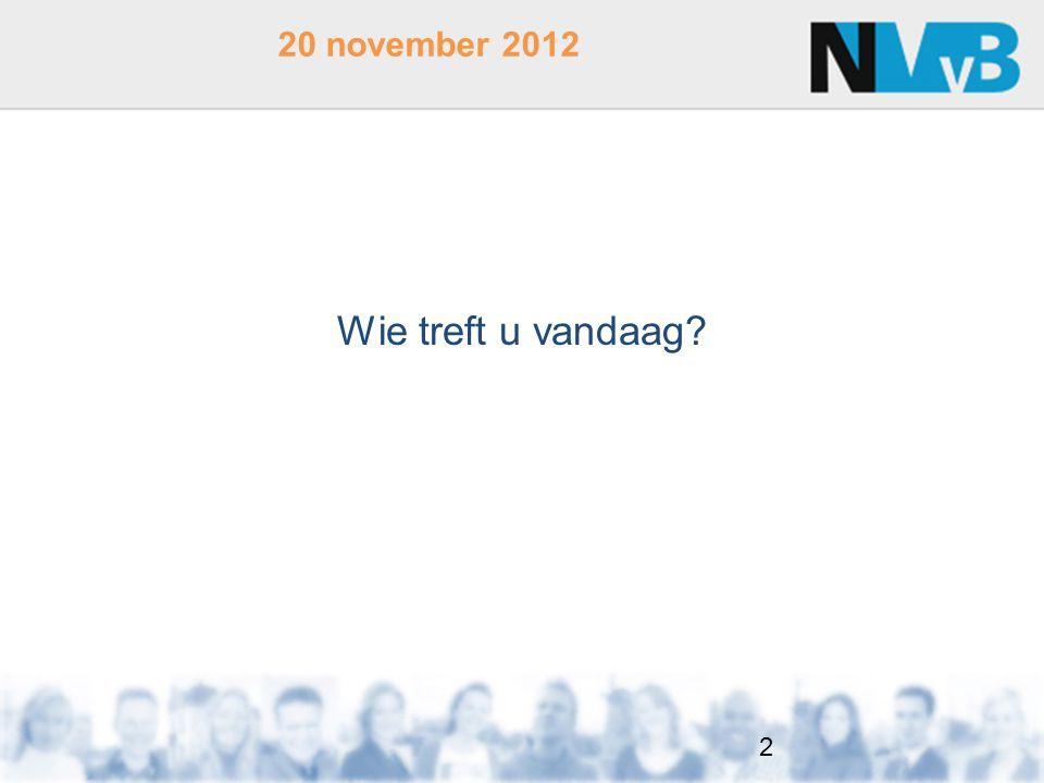 Wie treft u vandaag? 20 november 2012 2