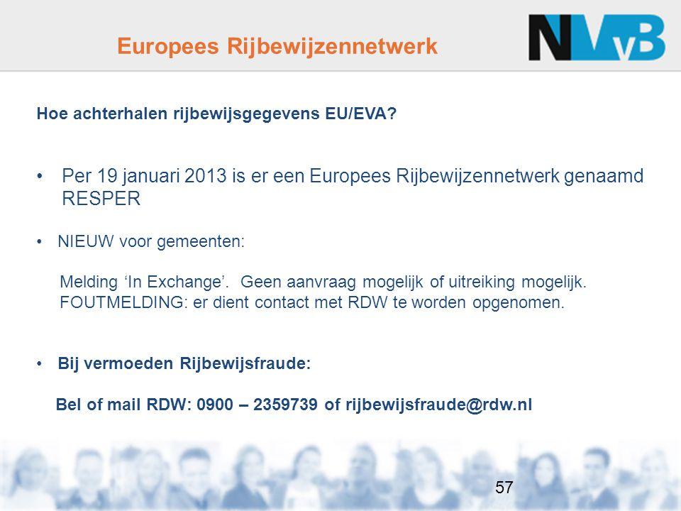 Hoe achterhalen rijbewijsgegevens EU/EVA.