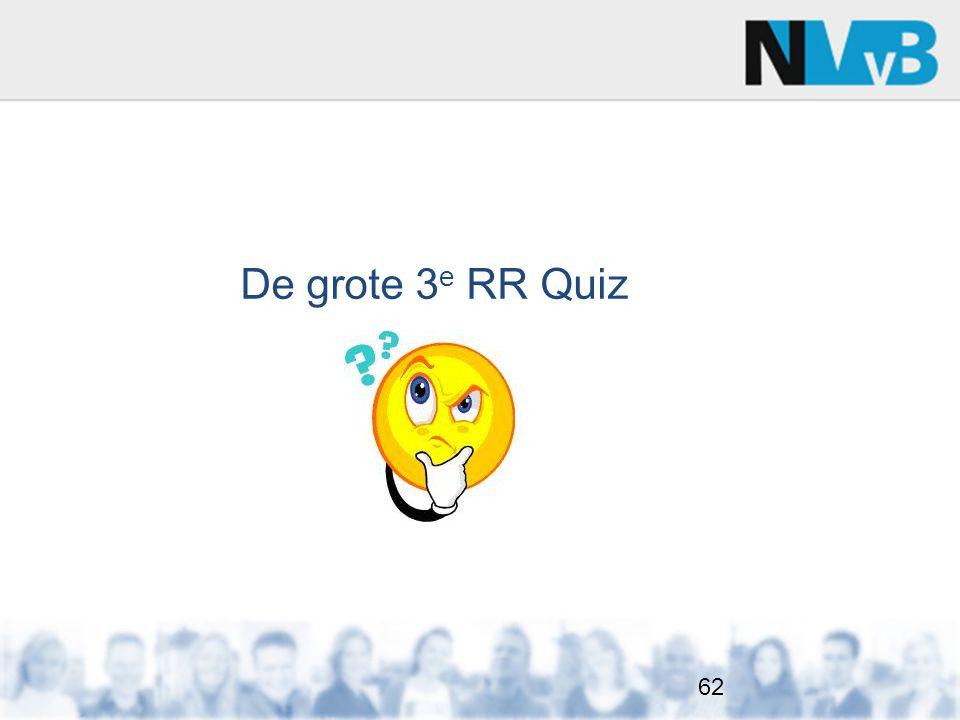 De grote 3 e RR Quiz 62