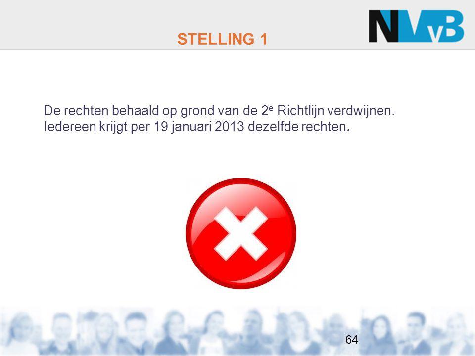 STELLING 1 De rechten behaald op grond van de 2 e Richtlijn verdwijnen.