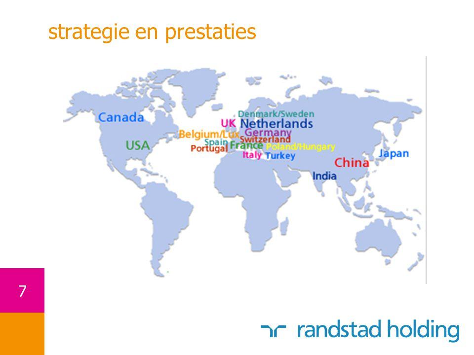 18 bron: gebaseerd op statistische data en voor enkele landen op schattingen * autonome groei in het volledige jaar prestaties Randstad versus marktgroei in 2006