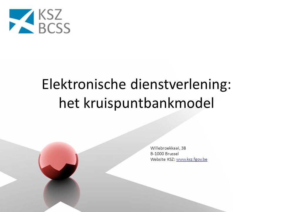 Willebroekkaai, 38 B-1000 Brussel Website KSZ: www.ksz.fgov.bewww.ksz.fgov.be Elektronische dienstverlening: het kruispuntbankmodel