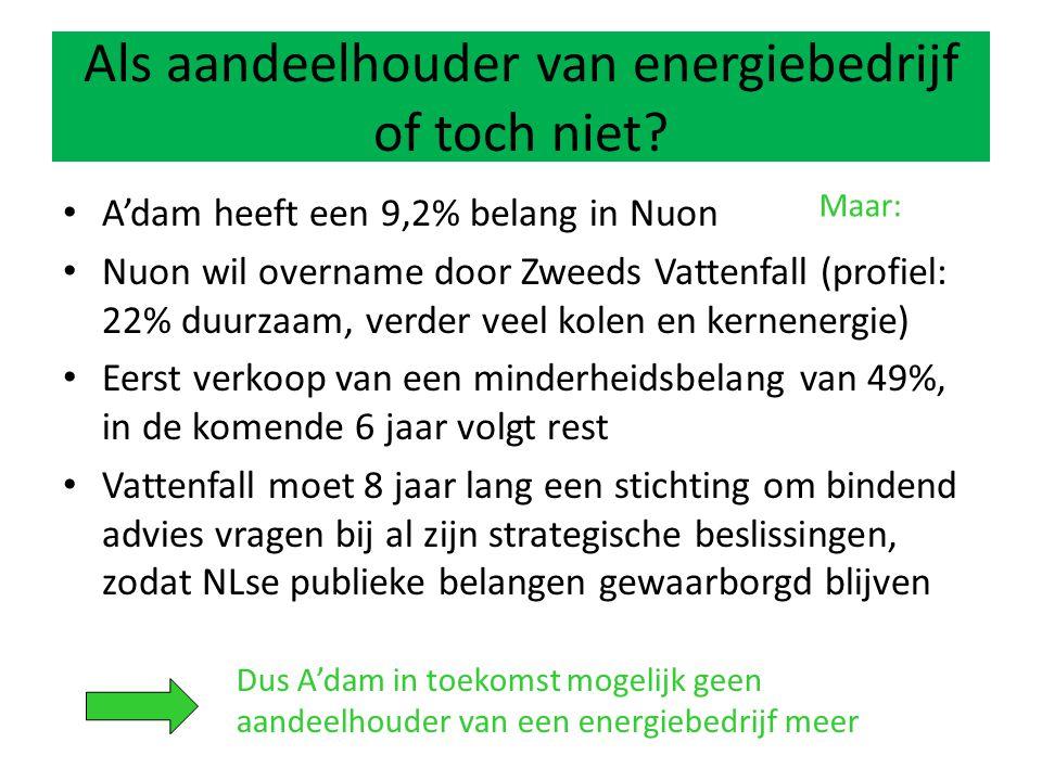 Als aandeelhouder van energiebedrijf of toch niet.