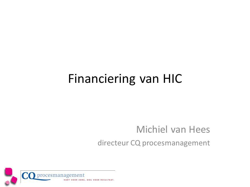 Financiering van HIC Michiel van Hees directeur CQ procesmanagement