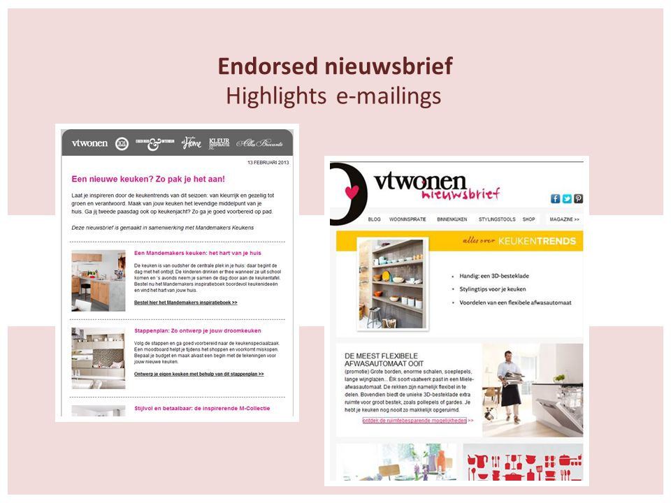 Endorsed nieuwsbrief Highlights e-mailings
