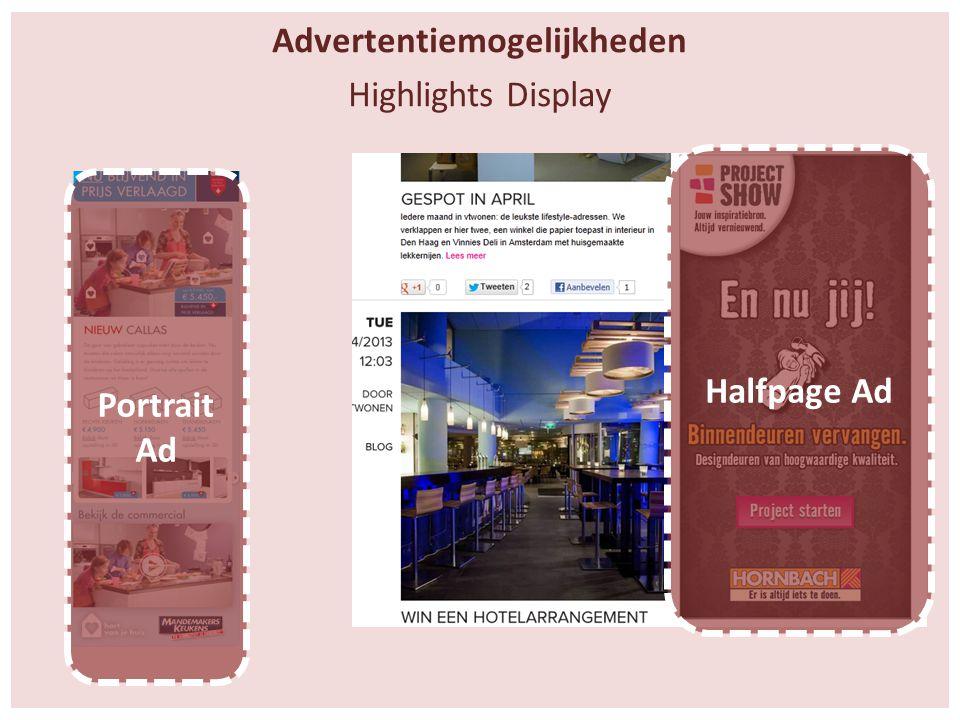 Advertentiemogelijkheden Highlights Display Halfpage Ad Portrait Ad