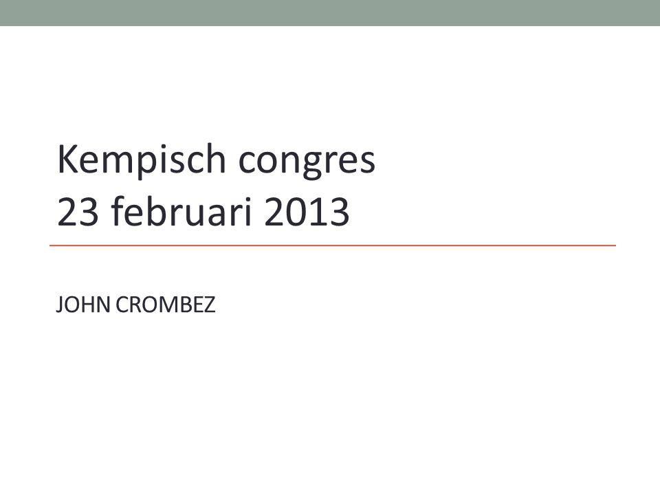 JOHN CROMBEZ Kempisch congres 23 februari 2013