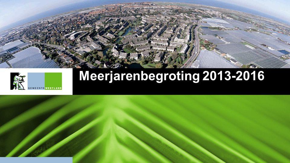 12 Dekkingsvoorstellen Voortgangsrapportage opgenomen in de begroting 2013-2016 Onderwerp2013201420152016 1.