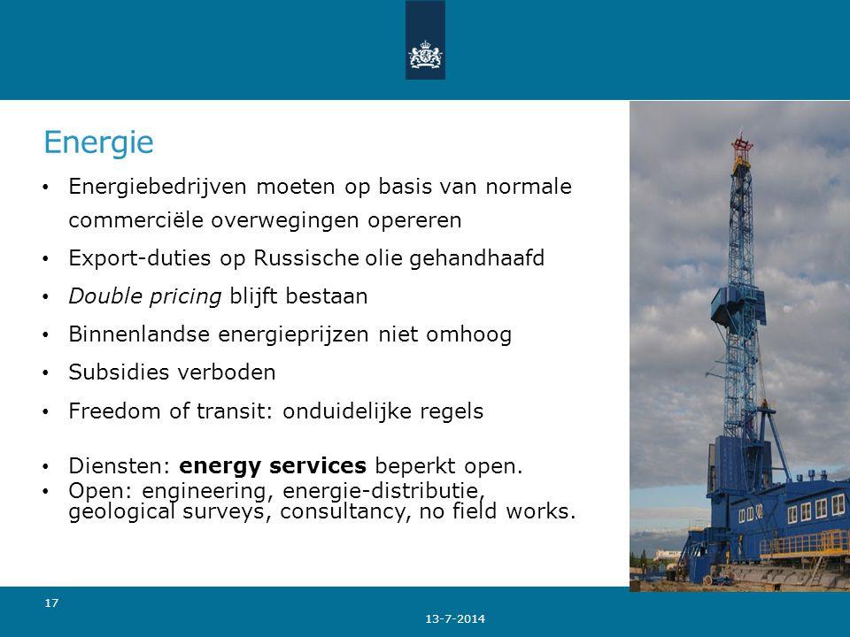 Energie Energiebedrijven moeten op basis van normale commerciële overwegingen opereren Export-duties op Russische olie gehandhaafd Double pricing blij