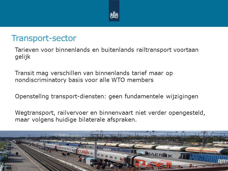 Transport-sector Tarieven voor binnenlands en buitenlands railtransport voortaan gelijk Transit mag verschillen van binnenlands tarief maar op nondisc
