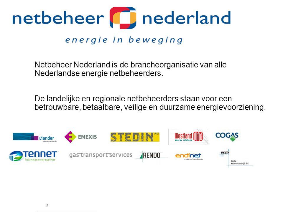Netbeheer Nederland is de brancheorganisatie van alle Nederlandse energie netbeheerders.
