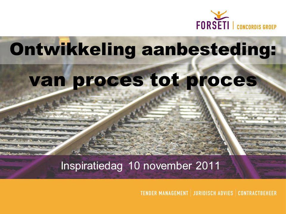 Ontwikkeling aanbesteding: Inspiratiedag 10 november 2011 van proces tot proces
