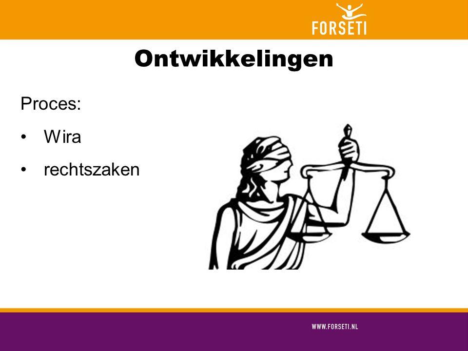 Ontwikkelingen Proces: Wira rechtszaken