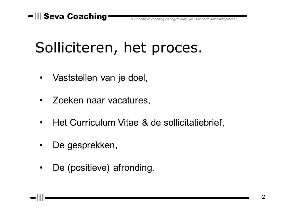 2 Solliciteren, het proces.