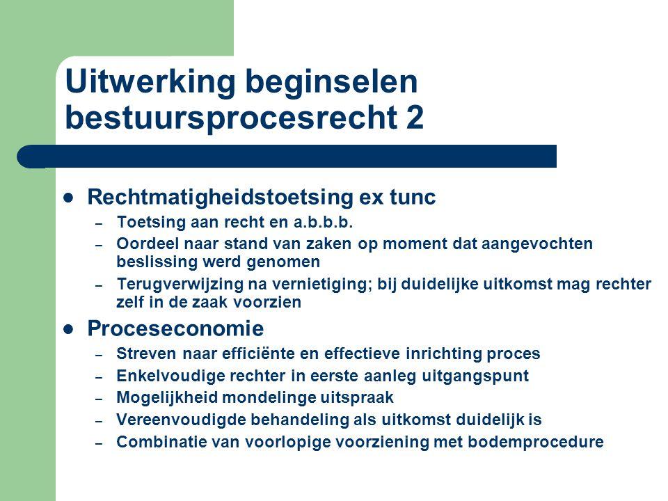 Uitwerking beginselen bestuursprocesrecht 2 Rechtmatigheidstoetsing ex tunc – Toetsing aan recht en a.b.b.b.