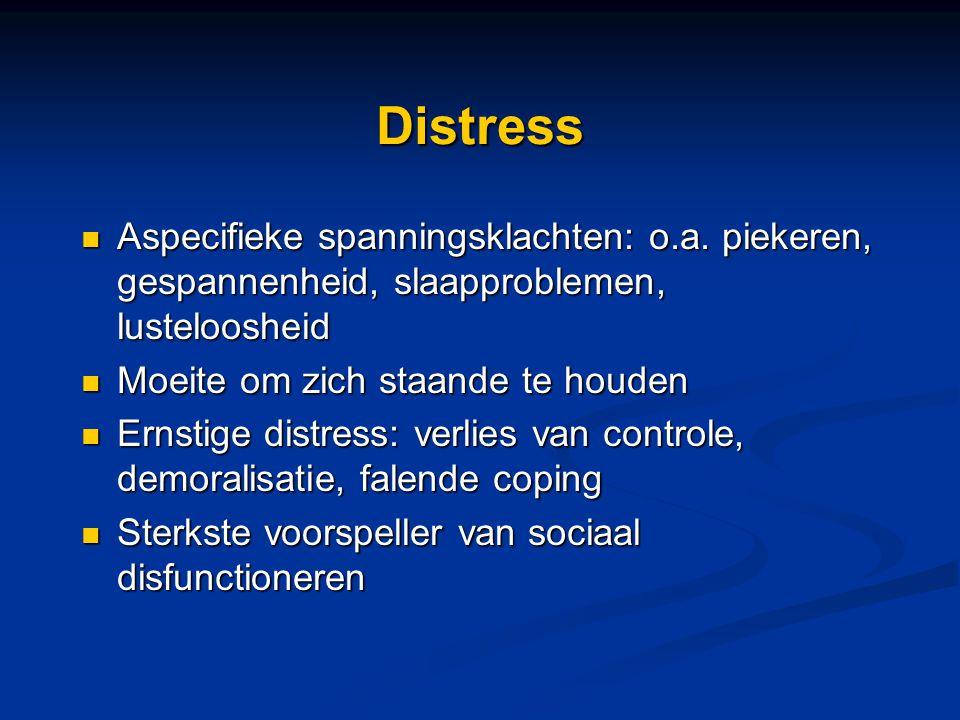 Depressie Symptomen van depressieve stoornis: Symptomen van depressieve stoornis: Anhedonie en depressieve cognities Anhedonie en depressieve cognities Indicatie voor kans om depressieve stoornis te hebben Indicatie voor kans om depressieve stoornis te hebben