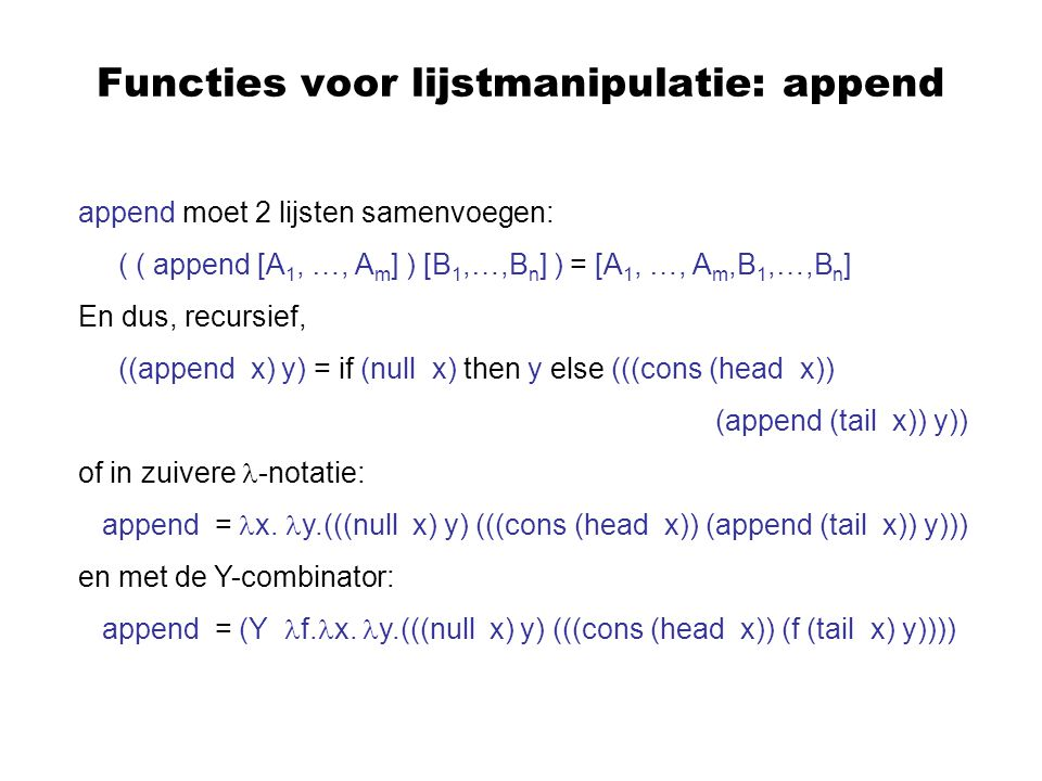 Typechecking Deze regels vereisen soms heel wat pattern-matching: bv.