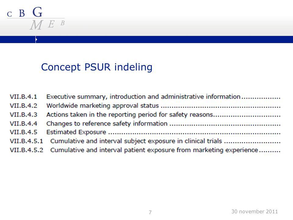 7 Concept PSUR indeling 30 november 2011