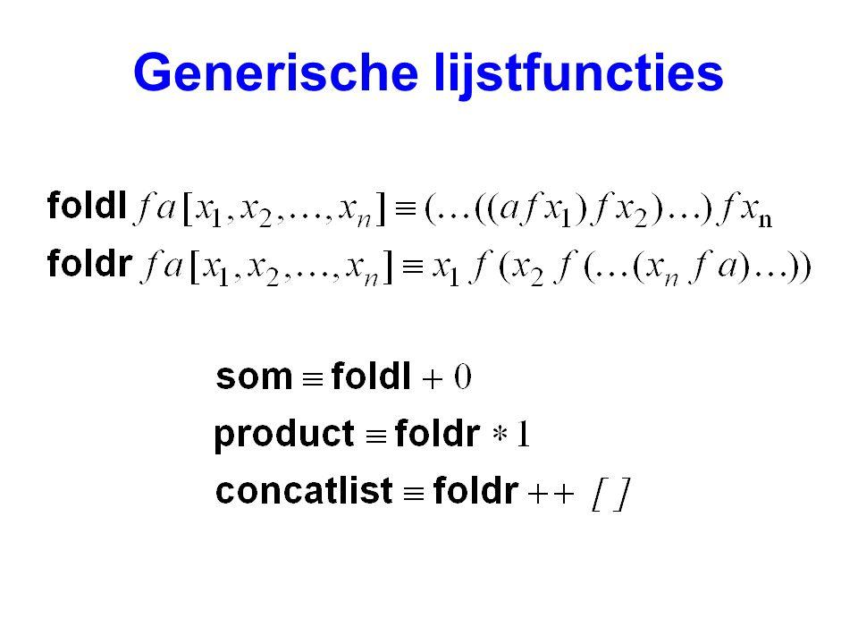 Generische lijstfuncties