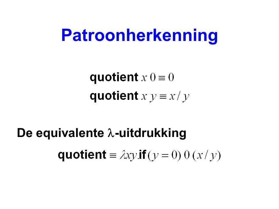 Patroonherkenning De equivalente -uitdrukking