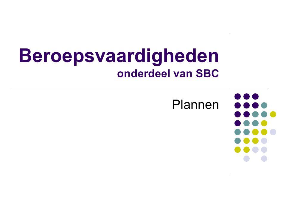 Beroepsvaardigheden onderdeel van SBC Plannen
