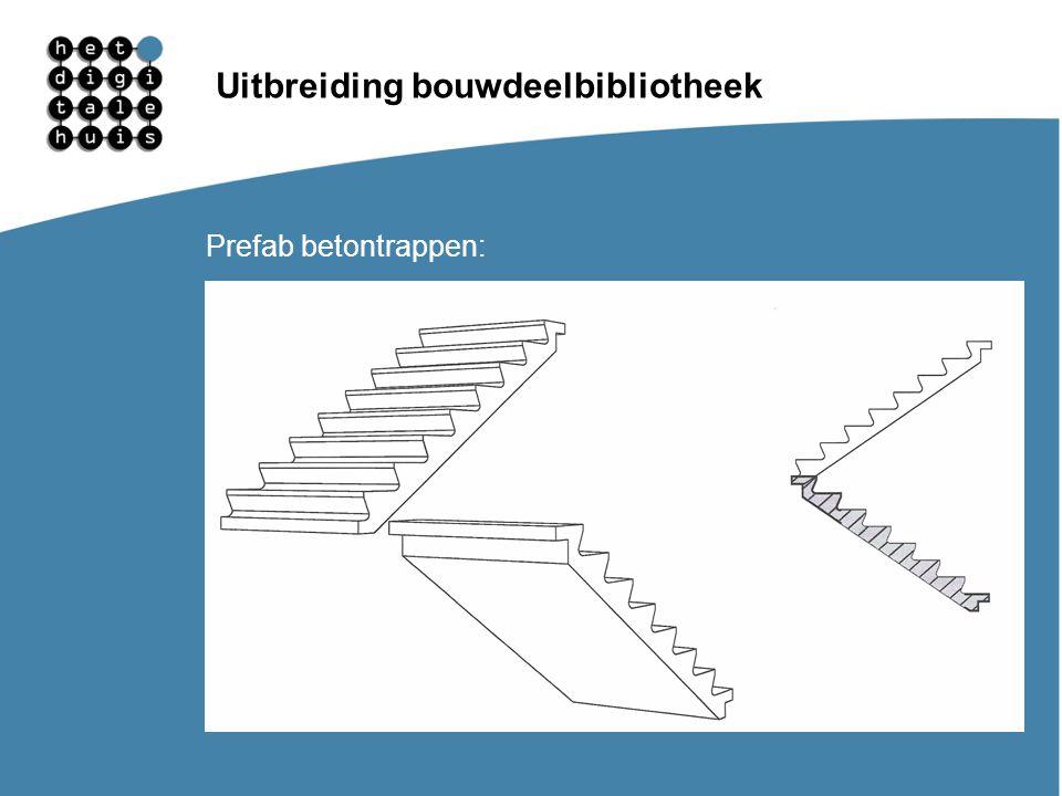Gebruikersdagen 11, 12 en 13 maart Uitbreiding bouwdeelbibliotheek Prefab betontrappen: